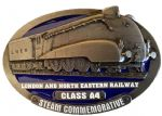 L.N.E.R. A4 Mallard Steam Train Belt Buckle with display stand. Code TH2